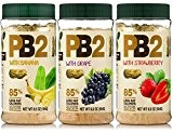 Bell Plantation PB2 Peanut Butter (Powdered) Mix 3-Pack Banana, Grape & Strawberry limited edition / Bell Plantation PB2 au beurre ...