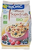 Bjorg Super Fruits Muesli aux Raisins Cassis Cranberry Myrtille Bio 375 g - Lot de 3