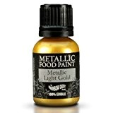 Cakes Supplies - Peinture Alimentaire Metallique Jaune Dore 25Ml