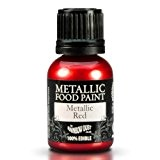 Cakes Supplies - Peinture Alimentaire Metallique Rouge 25Ml