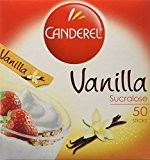 Canderel Sucralose goût Vanille 50 sticks, 100 g - Lot de 4