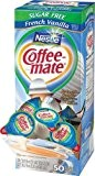 Coffee-Mate Coffee Creamer, Sugar Free French Vanilla Liquid Singles, 0.375-Ounce Creamers (Pack of 50) by Nestle Professional