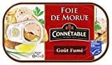 Connétable Foie de Morue Goût Fumé la Boîte de 121 g