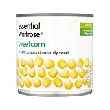 Essentielle Naturellement Doux Sweetcorn Waitrose 326G - Paquet de 2