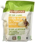 Ethiquable Sucre Blond de Canne Poudre Paraguay Doypack Bio et Equitable 750 g Producteurs Paysans - Lot de 5
