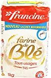 Francine Farine de Blé Tous Usages 1 kg - Lot de 5