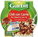 Garbit - Chili con Carne et son Riz - 350 g - Lot de 4