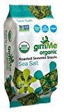 GimMe Health Foods Organic Roasted Seaweed Snacks, Sea Salt, 0.35 Ounce (Pack of 12) by GimMe Health Foods