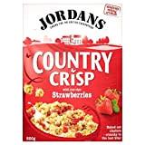 Jordans Pays Crisp Strawberry Crunchy Clusters (500g) - Paquet de 2