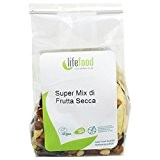 LIFEFOOD - Super-mix de Fruits Secs - SUPERFOOD - Vegan, 100% RAW, Sans Sucre Ajouté, Sans Gluten - 100 gr