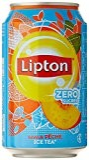Lipton Ice Tea Saveur Pêche Light Zéro Sucres Le Pack 6 Boîtes x 33 cl - Lot de 4