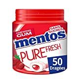 MENTOS - Chewing-Gum Mentos Pure Fresh Fraise - Chewing-Gum Sans Sucres - Parfum Fraise Ultra Gourmand - Dure Longtemps - ...