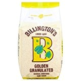 Natural or non raffiné granulé de Billington sucre de canne (1 kg) - Paquet de 6