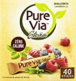 Pure Via 40 Sticks Stevia 60 g - Lot de 4