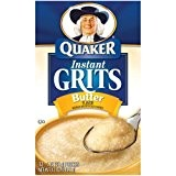 Quaker, Instant Grits, Butter Flavor, 12 Count, 12oz Box (Pack of 3) by Quaker