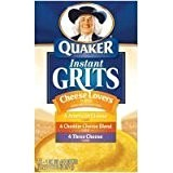 Quaker, Instant Grits Variety Pack, Cheese Lover's, 12oz Box (Pack of 3) by Quaker