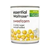 Sweetcorn 200G Waitrose Essentiel - Paquet de 4