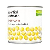Sweetcorn 326G De Waitrose Essentiel - Paquet de 2