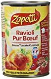 Zapetti Pâtes fraîches Ravioli Pur Boeuf 400 g - Lot de 6